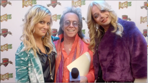 Amy Poehler, Jeffrey Gurian, and Nick Kroll as Liz G. on the set of Comedy Central's hit Kroll Show!