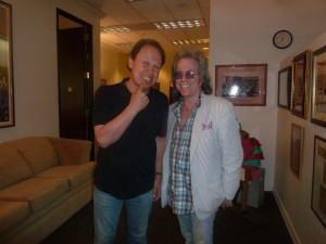 Jeffrey Gurian with Billy Crystal pointing to his teeth, referencing Jeffrey's history as a dentist!