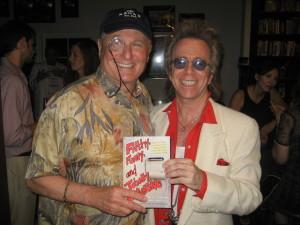 "Jeffrey Gurian with Budd Friedman in 2007 at Kent Emmons' party for Jeffrey's book ""Filthy, Funny, and Totally Offensive."""