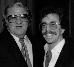 Jeffrey Gurian with Buddy Hackett at a Friars Roast, mid-80's.