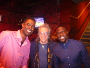 Chris Rock, Jeffrey Gurian, and Kevin Hart backstage after Keith Robinson's show!