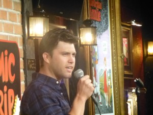 Colin Jost onstage at The Comic Strip!