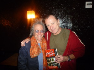 "Jeffrey Gurian with Colin Quinn holding Jeffrey's book ""Make 'Em Laugh"" featuring an introduction with Chris Rock!"