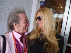 Singer/entertainer Consuelo Vanderbilt Costin with Jeffrey Gurian at the GCIFF press conference in Manhasset, Long Island.