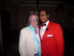 Jeffrey Gurian with D.L. Hughely after D.L.'s show at Gotham Comedy Club!
