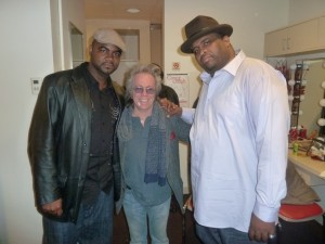 "Harris Stanton, Jeffrey Gurian, and Patrice O'Neal at the taping of Patrice's last special ""Elephant In The Room!"""