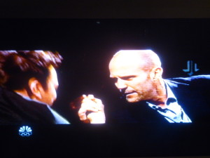 Jimmy Fallon arm-wrestling with action star Jason Statham!