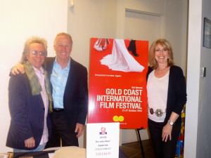 Jeffrey Gurian, Jackie Martling and Regina Gil head of the Gold Coast International Film Festival!