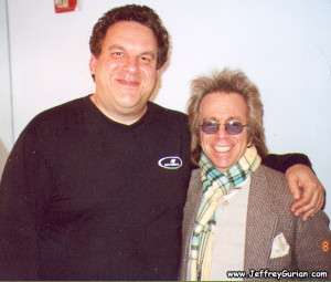 Jeffrey Gurian bacjstage with Jeff Garlin at Carolines Comedy Club in NYC!