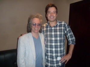 Jeffrey Gurian with Jimmy Fallon backstage at Gotham Comedy Club after Jeffrey interviewed Jimmy for Comedy Matters TV! (with the help of Jimmy's wife Nancy!)