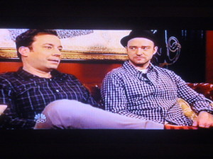 Jimmy Fallon and guest Justin Timberlake in conversation!