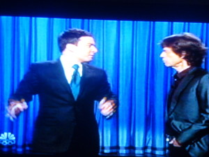 Jimmy Fallon on stage with Mick Jagger!