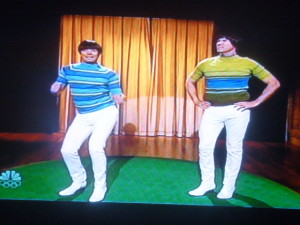 Jimmy Fallon and Will Ferrell doing a song about their tight pants!