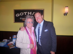 Jeffrey Gurian with Joe Piscopo at a fundraiser at Gotham Comedy Club!