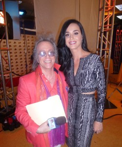 Jeffrey Gurian with international singing star Katy Perry on the set of Kroll Show in LA!