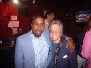Keith Robinson and Jeffrey Gurian backstage at The Gramercy Theatre in NYC after Keith's killer show!