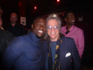 "Keith Robinson producer Kevin Hart and Jeffrey Gurian backstage after Keith's show ""Back of the Bus Funny!"""