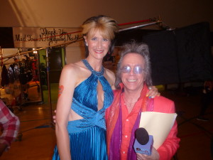 Jeffrey Gurian with Laura Dern, as C-Czar's mom. on the LA set of Comedy Central's hit Kroll Show!