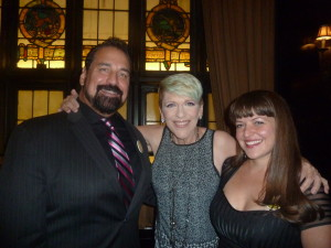 Jimmy Cannizzaro, Lisa Lampanelli with Jimmy's new girlfriend Jenna Esposito! One big happy family!