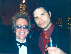 Michael Ian Black with Jeffrey Gurian at a Roast, possibly for The Naked Angels!