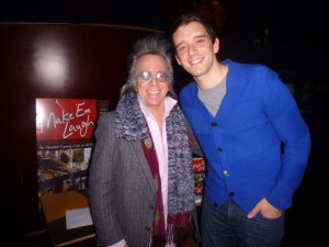 Jeffrey Gurian with Michael Urie at Carolines for the VIP Talent event!