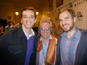 "Michael Urie, Jeffrey Gurian, and Ryan Spahn at the Friars Club Comedy Film Festival premiere of ""He's Way More Famous Than You"", which was the opening night film!"