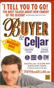 "The playbill ad for ""Buyer and Cellar"" the one man show starring the tour de force that is Michael Urie!"