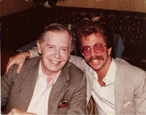 Jeffrey Gurian with Milton Berle at the LA Friars Club in 1985.  Milton was the Pres. of The Friars Club and was Jeffrey's sponsor!