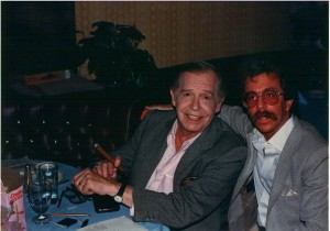 Jeffrey Gurian with Milton Berle at the LA Friars Club in 1985.