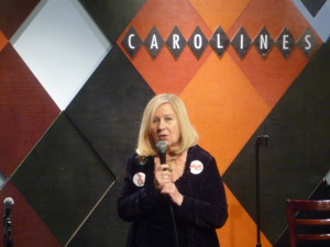 Broadway and Off-Broadway producer Pat Addiss onstage at Carolines on Broadway!
