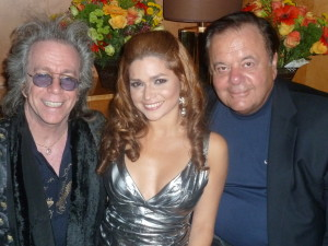 Jeffrey Gurian, socialite/philanthropist Karen Koeningsberg, and Paul Sorvino celebrating Karen's birthday at The Dream Hotel PHD, Meatpacking District, NYC!