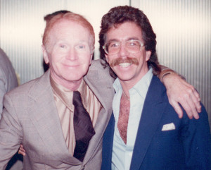 Jeffrey Gurian with Red Buttons at a comedy event, mid-80's.