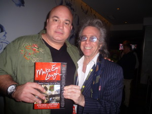 "Jeffrey Gurian with Robert Kelly who's holding his copy of  Jeffrey's book, ""Make 'Em Laugh""!"