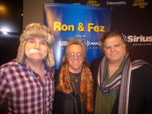 (L-R) Fez Whately, Jeffrey Gurian, and Ron Bennington in the Sirius XM studio on the next to last show before they moved to Raw Dog!