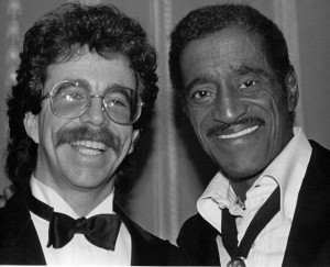 Jeffrey Gurian with Sammy Davis Jr. at a Friars Club tribute to Milton Berle.