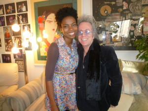 "Jeffrey Gurian and Sasheer Zamata after the shoot for The Business of Comedy, shot in his ""comedy museum""!"