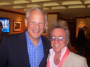 Jeffrey Gurian with Congressman Steve Israel in the Owner's Box at Citi Field.