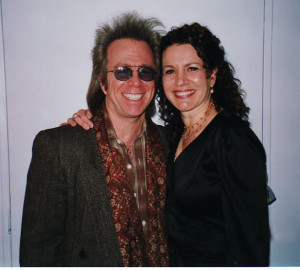 Susie Essman and Jeffrey Gurian at Carolines Comedy Club in NYC.