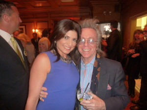 Jeffrey Gurian with Tamsen Fadal, the anchor from WPIX 11, and purple is his favorite color! LOL