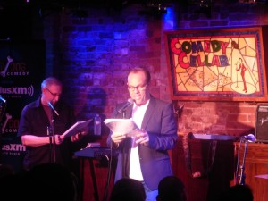 Tom Papa on stage at Noam Dworman's The Village Underground