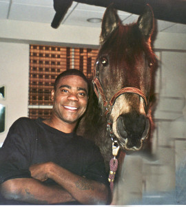 Tracy Morgan and the horse he co-starred with in a scene from 30 Rock! I keep in touch with that horse!