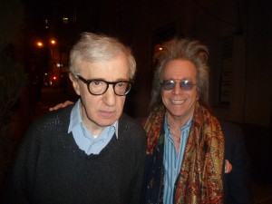 Jeffrey Gurian with Woody Allen who he had met many years earlier through his mentor Jack Rollins!